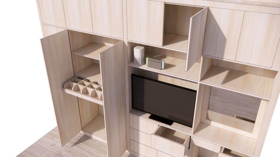 Sketchup动态组件——主卧柜子