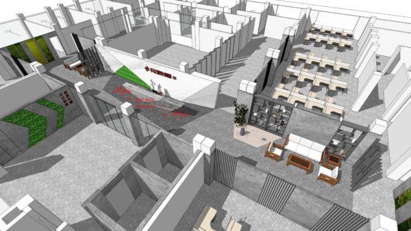 公司新办公楼前台区域设计