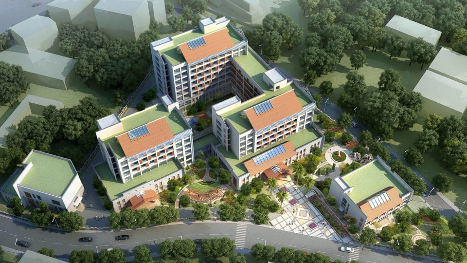 惠安县社会福利中心报批稿 效果+建筑动画